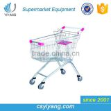 High quality low price shopping trolley supermarket trolley with baby seat