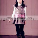 New design warm woolen baby dress clothing for autumn