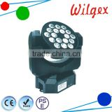 DMX control RGB led mini beam wash moving head