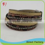 YIWU jewelry New Products Genuine Leather Retro Bracelet with Briaded Rope for man