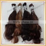 Wholesale Unprocessed 100% Virgin Hair 5A Russia Human Bulk Hair with low Price                                                                         Quality Choice
