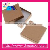 Kraft Brown Square Cardboard Jewelry Boxes