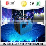 DMX ILDA Control 8watts RGB Multi Color Laser Light,Wall Projector,Outdoor Advertising Equipment