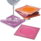 clear plastic cocktail napkin coasters made in acrylic material                                                                         Quality Choice