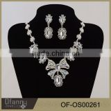 Hot Sale Factory Birect Bridal Accessory Butterfly Crystal Necklace And Earring Wedding Jewelry Set