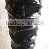 luxury decorative fiberglass lacquer vase, waving design in black