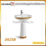 Popular Bathroom sanitary ware pedestal basin china manufacturer ceramic stand floor sink