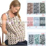 Lower moq new arrival print 100% cotton baby nursing cover