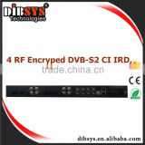Professional 4x CI DVB-S2 IRD/Integrated Receiver Decorder with Common Interface,Option DVB-T2 and DVB-C RF in