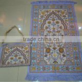 New design chenille muslim prayer rug with bag
