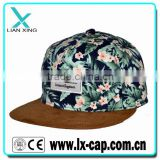flower pattern custom snapback cap snap back hat                                                                                                         Supplier's Choice
