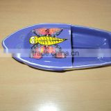 painted tin toys boat butterfly