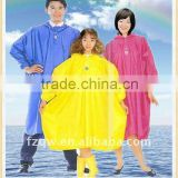 adult and kids pvc rain poncho raincoats