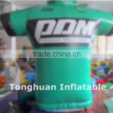 2016 Popular inflatable sports clothes for display model