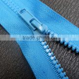Factory wholesale blue color siders closed end rezin zipper for garment accessories