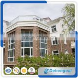 Wooden color UPVC/PVC fashion design frame awning window,wood window