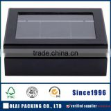 matte black lacquer finish Hotselling wooden Tea Box with transparent window