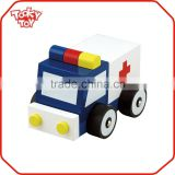 Baby Play Small Wooden Ambulance Car Toy Wooden Car