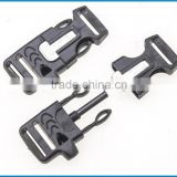 promotional plastic flint fire starter buckles, flint buckle, fire starter buckle with whistle for bracelet