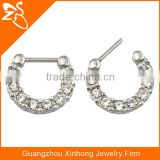 wholesale beautiful crystal decorative 8 mm septum piercing 16 g nose rings body jewelry