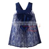 (OEM)Pettigirl Latest Girls Lace Dresses Decorated With Bow Stylish Cute Kids Flower Dress Baby Clothes DMGD81107-16L