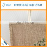 Wholesale slogan jute bag online shop China jute messenger bag