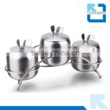 3 pieces of 201 stainless steel spice jar set & salt and pepper shakers