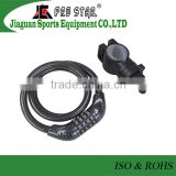 High-end Steel Cable Coded Bicycle Accessories Bike Lock Decorating with Carbon Fiber
