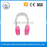 Silicone material ear plugs and nose clips for swimming