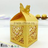 C209 Birthday wishes chocolate candy box party decorations candy box laser cut candy gift boxes wedding favors                                                                         Quality Choice