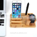 Best selling i Watch Bamboo Wood Charging Stand Bracket for Apple Watch Stand Docking Station for Both 38mm and 42mm