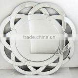 Hot Sale Round New Decorative Cheap Wall Mirror with Floral Frame/Bevelled Dressing Mirror for Home/Salon