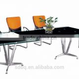PT-C012 curved glass conference table for office contemporary office meetiong desk for 8 persons