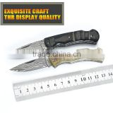 Manufacturers selling outdoor camping knife knife Damascus steel claw folding knife handle natural pattern