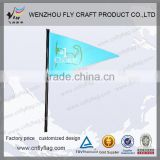 Hot selling mini waving flying printing hand flags with plastic pole