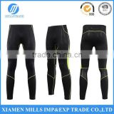 men compression high stretch legging tight pants with breathable mesh contrast