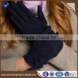 Fashion ladies 100% wool gloves with beautiful beads on back