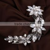 Hot Wedding Flower Delicate Beauty Crystal Chic Headband Hair Clip Hair Comb Hair Jewelry for Women Lady