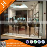 Jewelry shop vitrin oval glass display cabinet