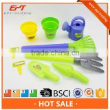 Funny plastic pretend play kids garden tools set toys
