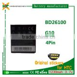China mobile battery for HTC BD26100 G10/A9192 /A9191/Ace/Desire HD