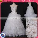 the model of african dress sweetheart gowns lace with beads ruffles organza train ball gown sexy puffy wedding dress