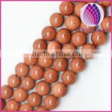 High quality goldstone round loose beads 4-14mm