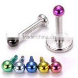 Customized Fashion 316l Surgical Prong Opal Bioflex CZ Crystal Monroe Bar Lip Labret Stud lip piercing jewelry
