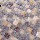 SMS06 new design 8mm factory glass mosaic classical mosaic fashionable glass mosaic tile