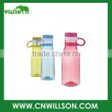 Supply cheap logo printed new design double wall BPA free 550ml plastic tritan bottle with drinking straw lid