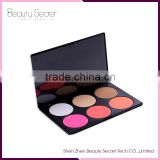 private label pressed powder makeup for dark skin, Professional 6 Colors Contour kiss whitening cream