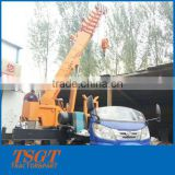 Small Hydraulic Truck Crane New Feature Diesel Tricycle Cargo Crane for Sale with 3 Ton Lifting Load