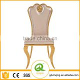 B404-3 Home Furniture Luxury Rose Gold Leather Dining Chair