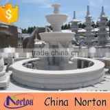 large decorative white marble swan statue garden fountain NTMF-S514S